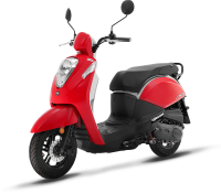 Our new Mio50i is our first fuel injected 50cc scoota; embracing the original retro styling but updated with start of the art technology. With LED lights front and rear and a digital dash, it's the perfect mix of new features but with an old favourite vibe.
